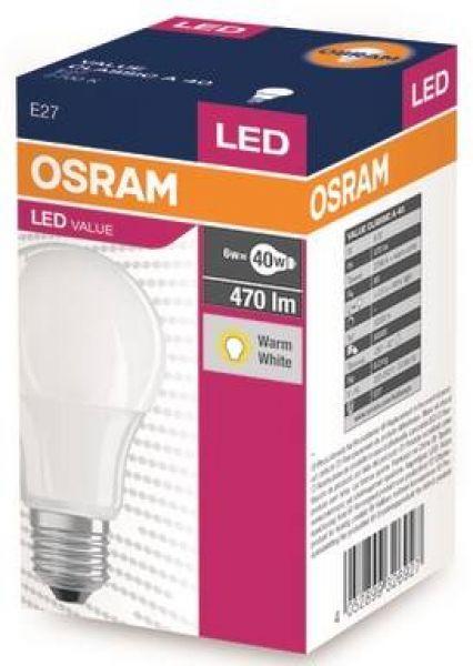 Value Classic 6W E27 A40 FR OSRAM