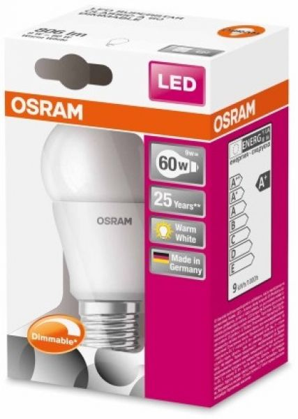 LED DO ŚCIEMNIACZA 9W E27 DIMMABLE  OSRAM