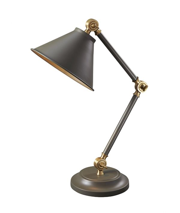 PROVENCE dark grey and aged brass PV-ELEMENT-GAB Elstead